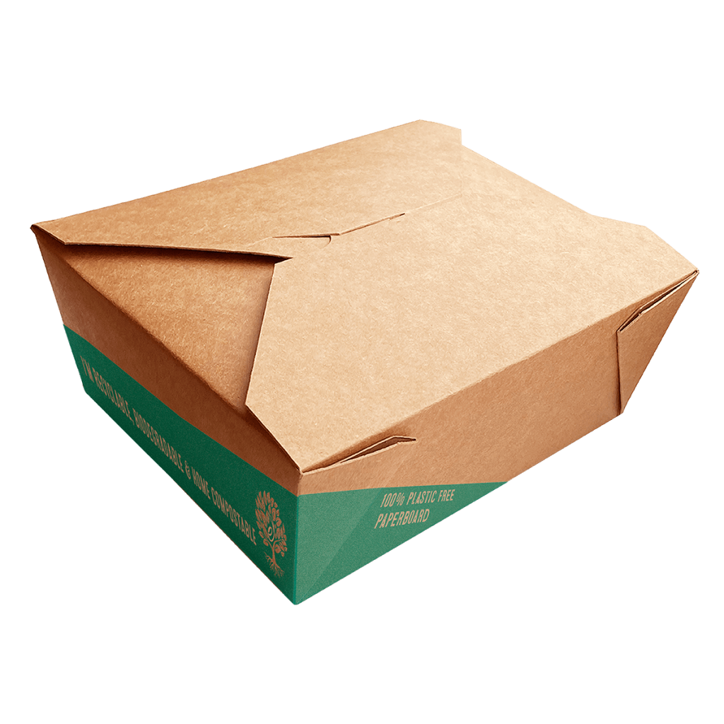 plastic free paperboard noodle box