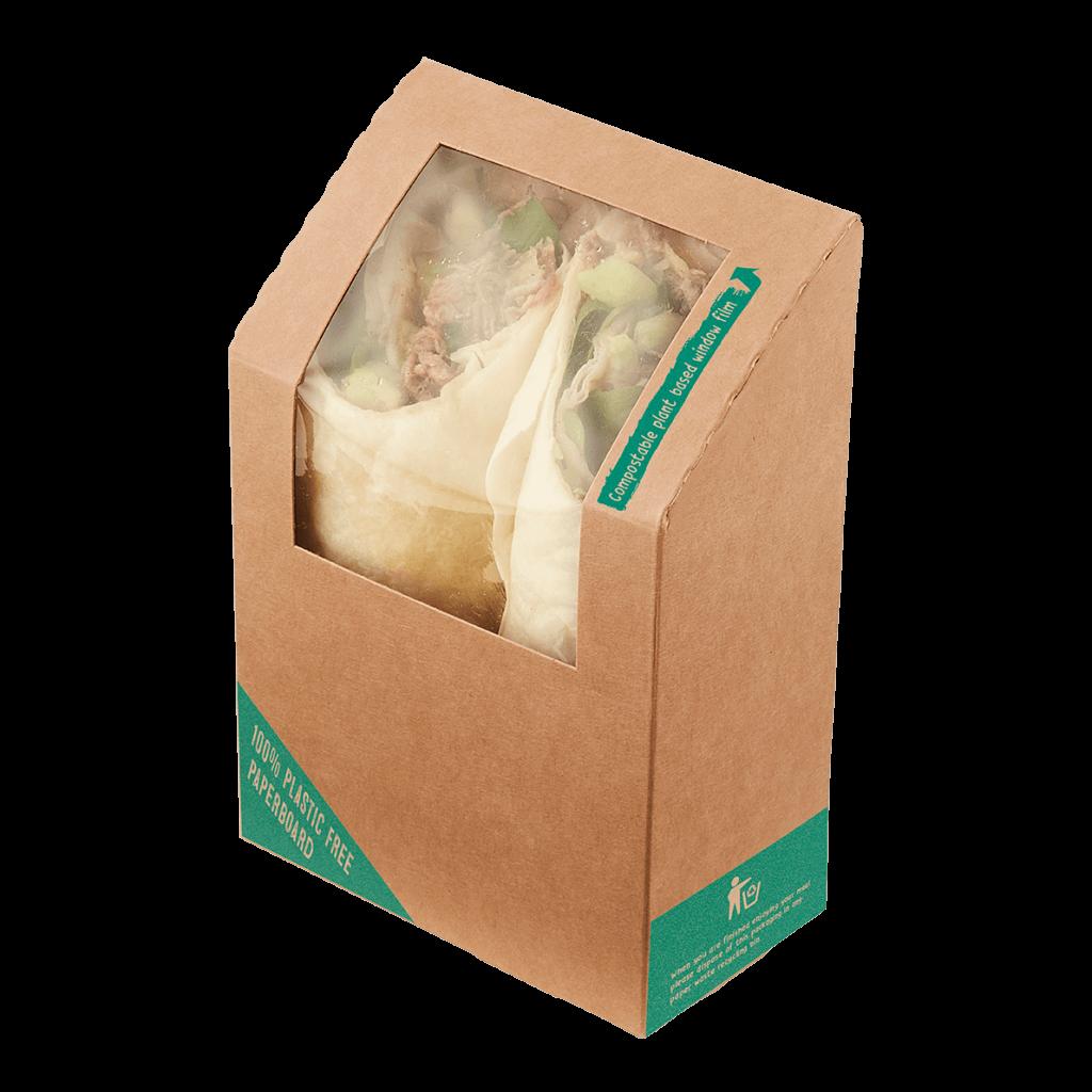 plastic free paperboard tortilla wrap