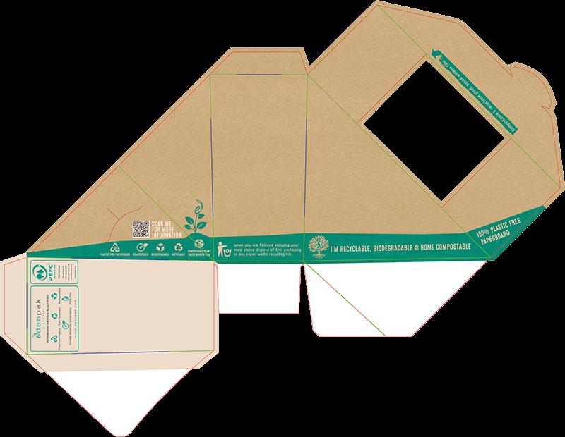 sandwich wedge package design