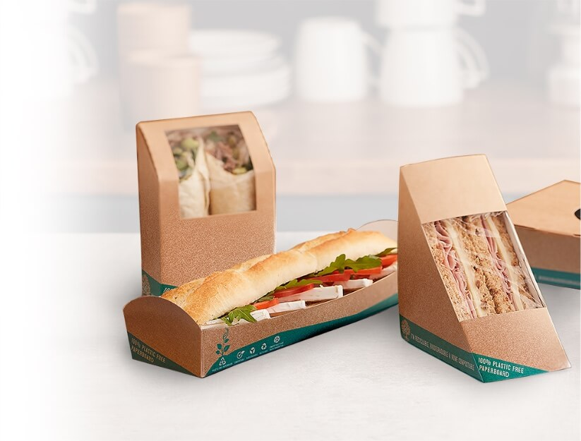 picture of sandwich in plastic free packaging